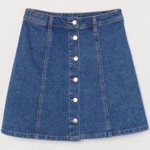 Classic Denim A-Line Skirt
